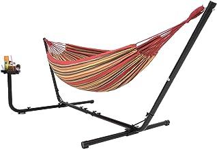 Hangmat met Standaard 2 persoons met bekerhouder, 2 personen / 205kg, 210 * 140, met Draagtas (Rood/Geel) VITA5