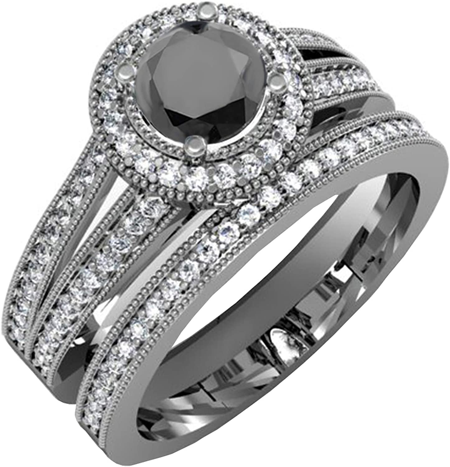 Dazzlingrock Collection 1.25 Carat ctw Trust A surprise price is realized 14 Rhodium Plated Black