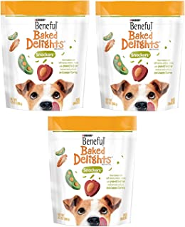 Purina Beneful Baked Delights Snackers with Peanut Butter Dog Treats, 269g