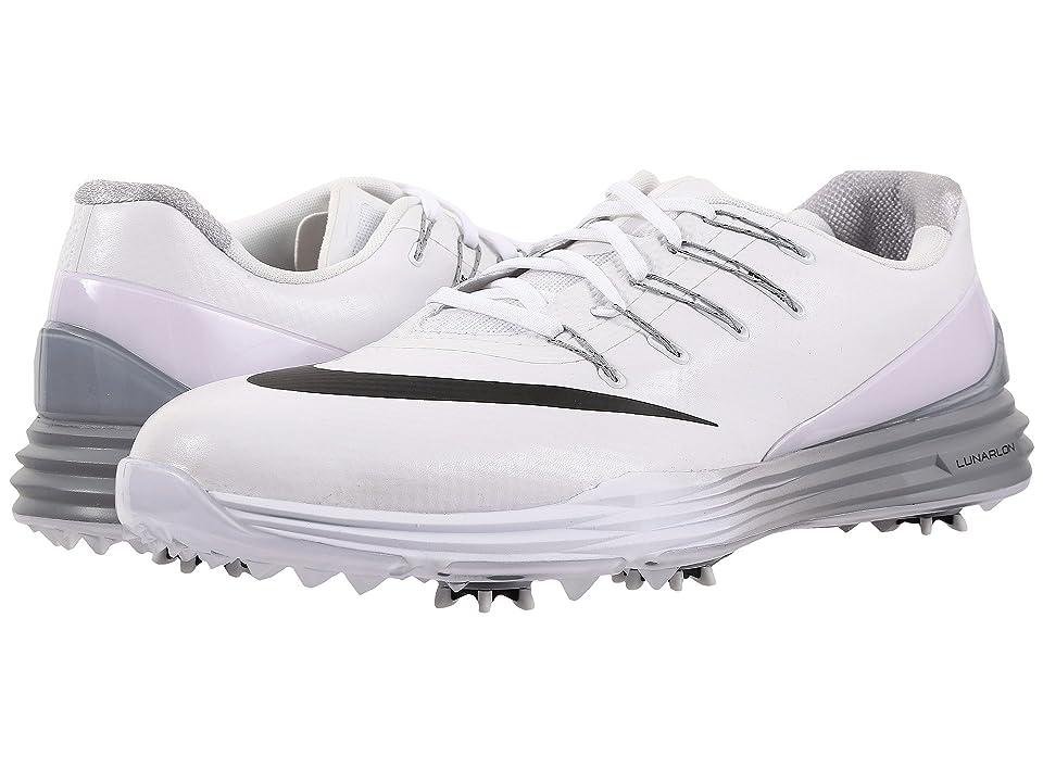 Nike Golf Lunar Control 4 (White/Black/Wolf Grey) Men's Golf Shoes