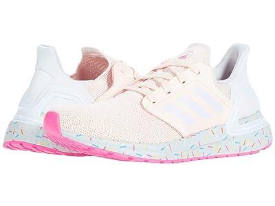 adidas Kids UltraBOOST 20 (Big Kid) (Pink Tint/Sky Tint/Shock Pink) Girls Shoes