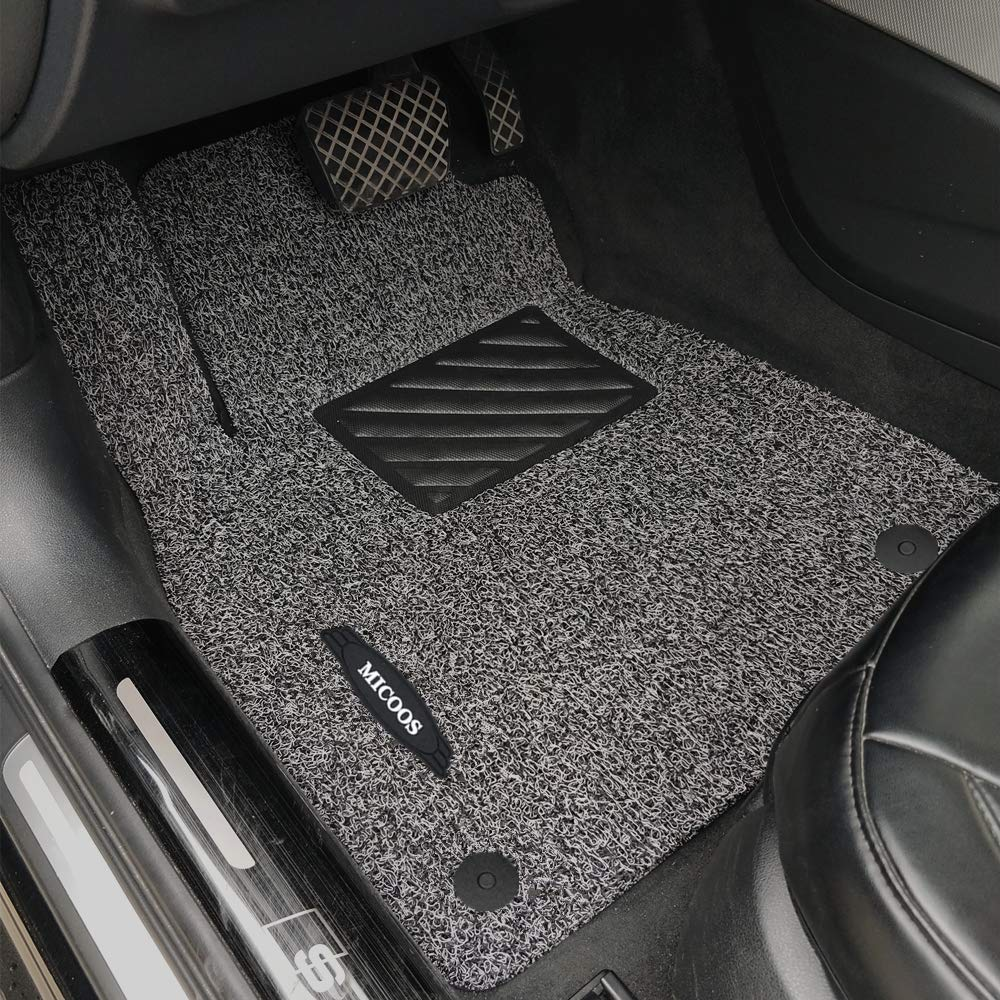 MICOOS Compatible with Car Floor Mat Carpet Audi A5 2008-2017 Gray and Black All Weather Heavy Duty Floor Mat Set Waterproof Stain-Resistant