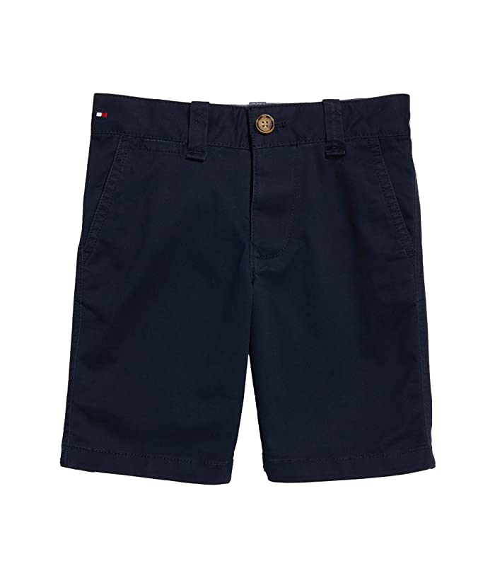 Tommy Hilfiger Adaptive  Solid Short (Toddler/Little Kids/Big Kids) (Sky Captain) Mens Shorts