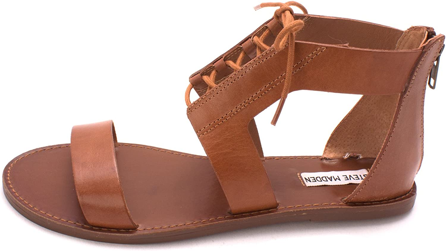 Steve Madden Womens Delgado Leather Open Toe Casual Strappy Sandals