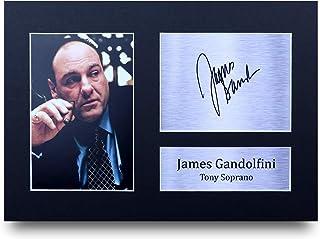 600b88752828 HWC Trading James Gandolfini Gift Signed A4 Printed Autograph Sopranos  Gifts Photo Display