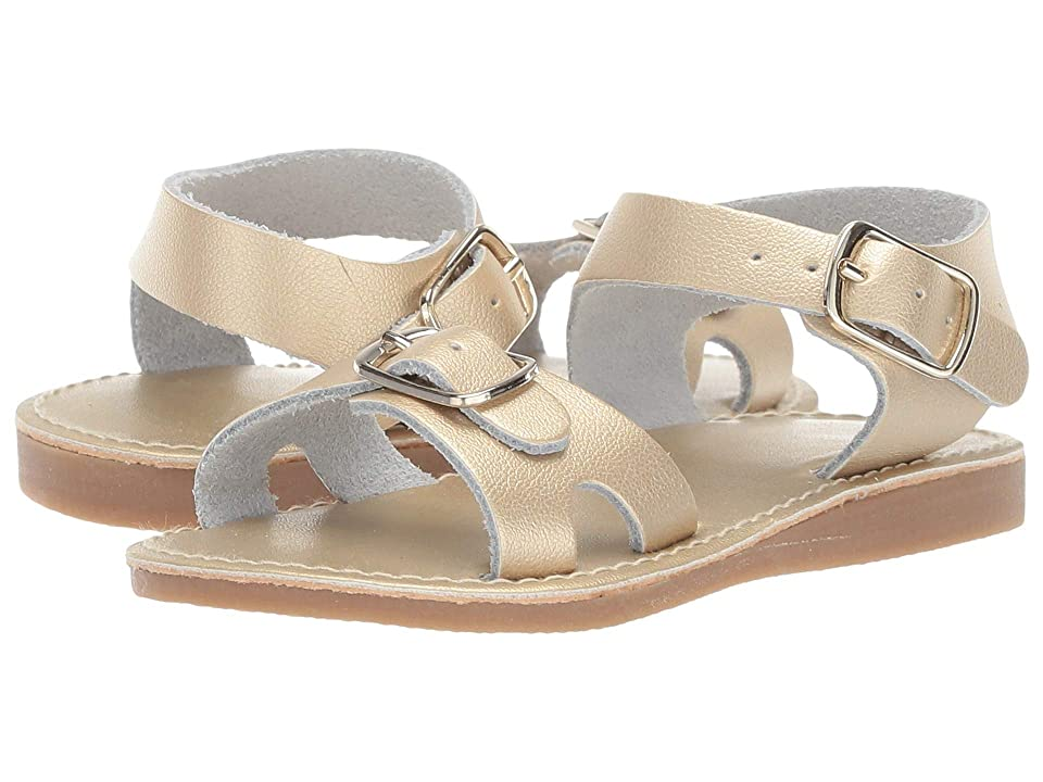 Baby Deer Classic Leather Sandal Walk (Infant/Toddler) (Gold) Girls Shoes