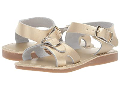 Baby Deer Classic Leather Sandal Walk (Infant/Toddler) (Gold) Girls Shoes