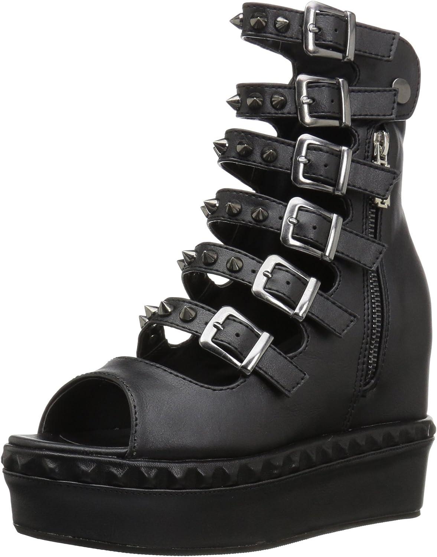 Sprite-02-Plattform Mary Jane schoen mit Blaumendruck und schwarzen Fußkettchen - (EU 38  US 8) - Demonia  | Mama kaufte ein bequemes, Baby ist glücklich