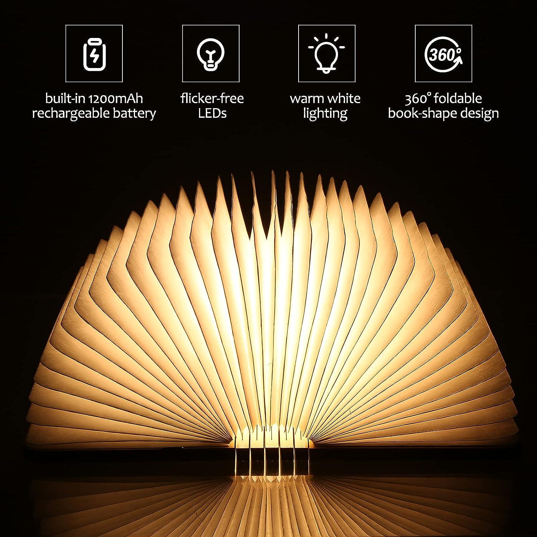 Lámpara plegable con forma de libro Queenser por sólo 16,79€ usando el #código: 6HFMBCQM