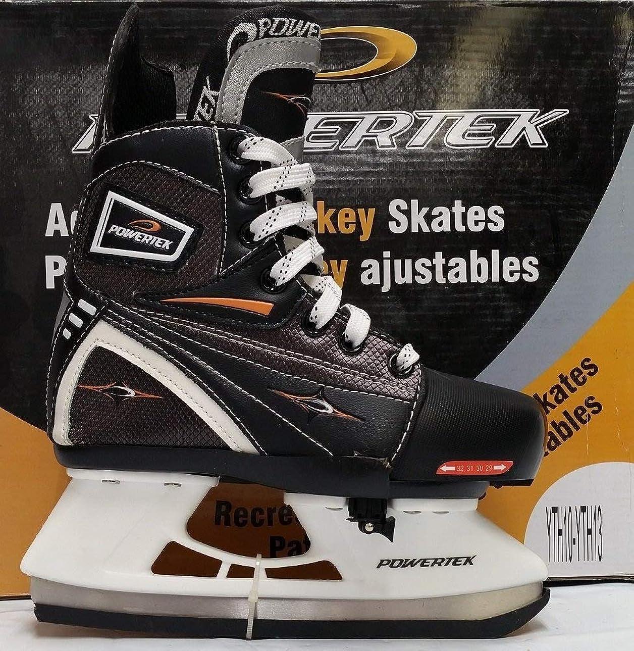 テスト蒸留トリプルPowertek V3.0 Tek Adjustable Hockey Skate YTH10-YTH13
