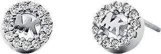 Michael Kors Women Cubic Zirconia Sterling Silver Pave Logo Stud Earrings
