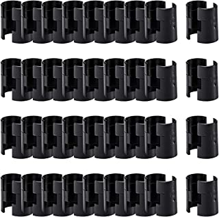 """ANPHSIN 36 Pairs 72 Pack Wire Shelving Shelf Lock Clips for 1"""" Post- Shelving Sleeves Replacements for Wire Shelving System"""