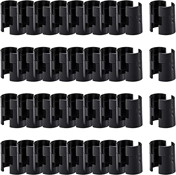 ANPHSIN 36 Pairs 72 Pack Wire Shelving Shelf Lock Clips For 1 Post Shelving Sleeves Replacements For Wire Shelving System