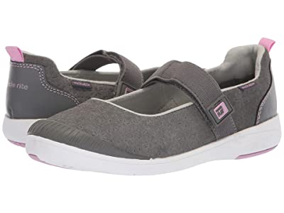 Stride Rite M2P Lia (Little Kid) (Grey Leather) Girls Shoes