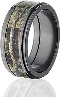 Mossy Oak Rings, Camouflage Wedding Band, Break Up Infinity Camo Rings