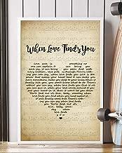 Trendora Decor When Love Finds You Song Lyrics Portrait Poster Print (12