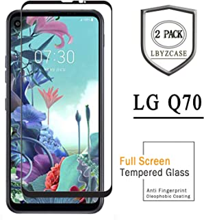 LBYZCASE Screen Protector for LG Q70[NOT FOR LG Q7],[2 Pack] Tempered Glass Screen Protector with Lifetime Replacement for LG Q70