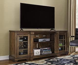 Ashley Furniture Signature Design - Flynnter TV Stand with Fireplace Option - Medium Brown