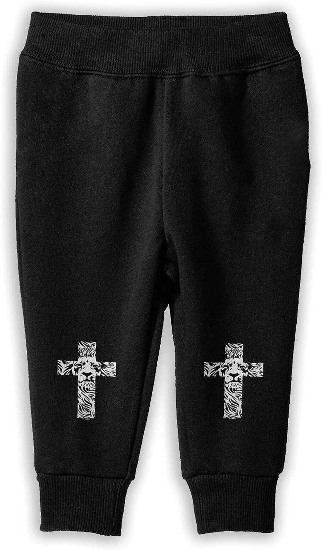 Lion Cross Religious Christian Rasta Girlâ€s Boy Cotton Long Pants