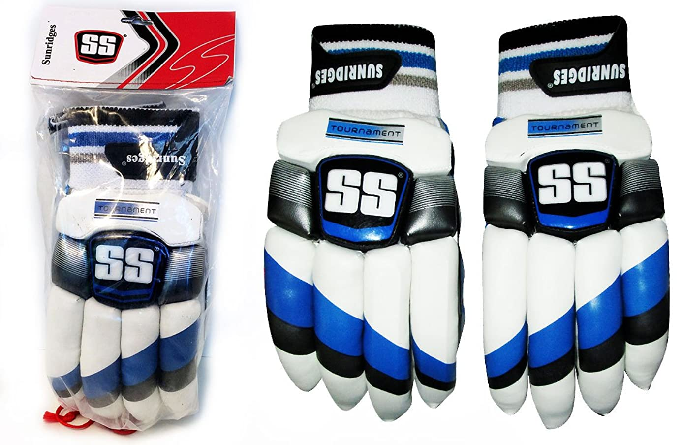 SS Cricket Batting Gloves Tournament PRO Soft Fill by Sunridges (Men Left Handed) arg3073645
