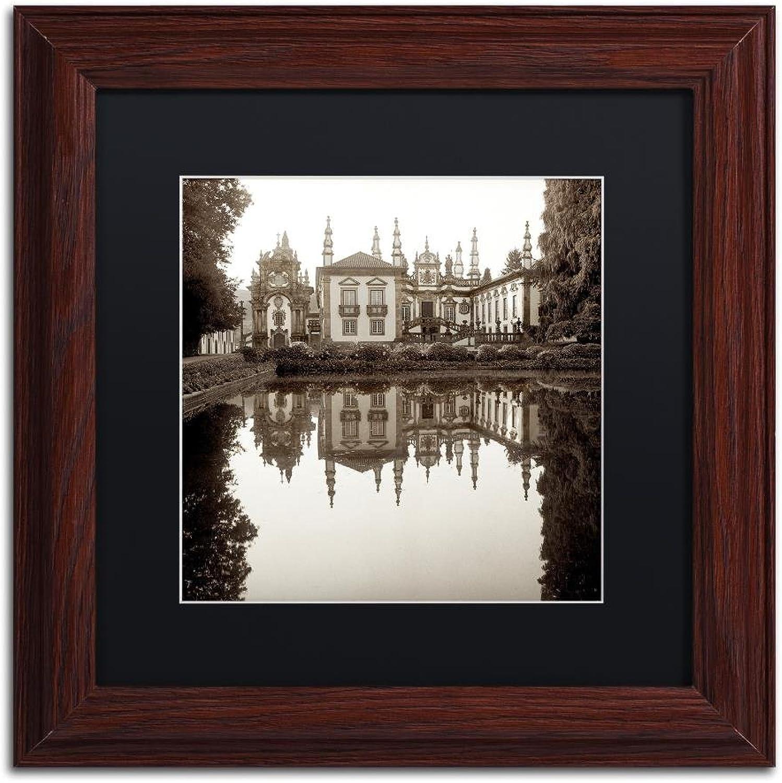 Trademark Fine Art Portugal I by Alan bluestein, Black Matte, Wood Frame 11x11