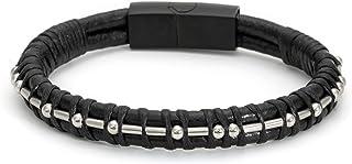 FCK Cancer Morse Code Leather Bracelets for Men Women...