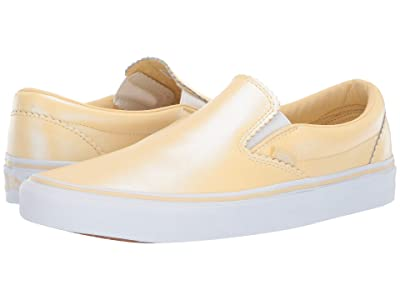 Vans Classic Slip-Ontm ((Pearl Suede) Gold/True White) Skate Shoes