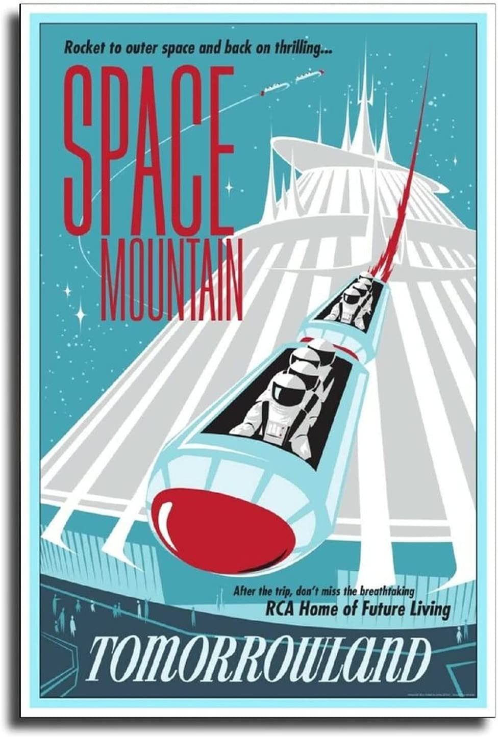 Spasm price HXX Tomorrowland Space Astronaut Collector Canvas Art Poster Sales of SALE items from new works Pos