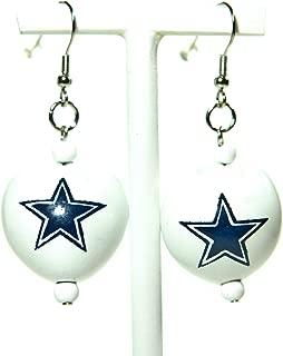 NFL Dallas Cowboys Go Nuts Kukui Nut Earrings