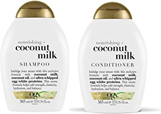 OGX Nourishing Coconut Milk Shampoo & Conditioner (13 Ounce)