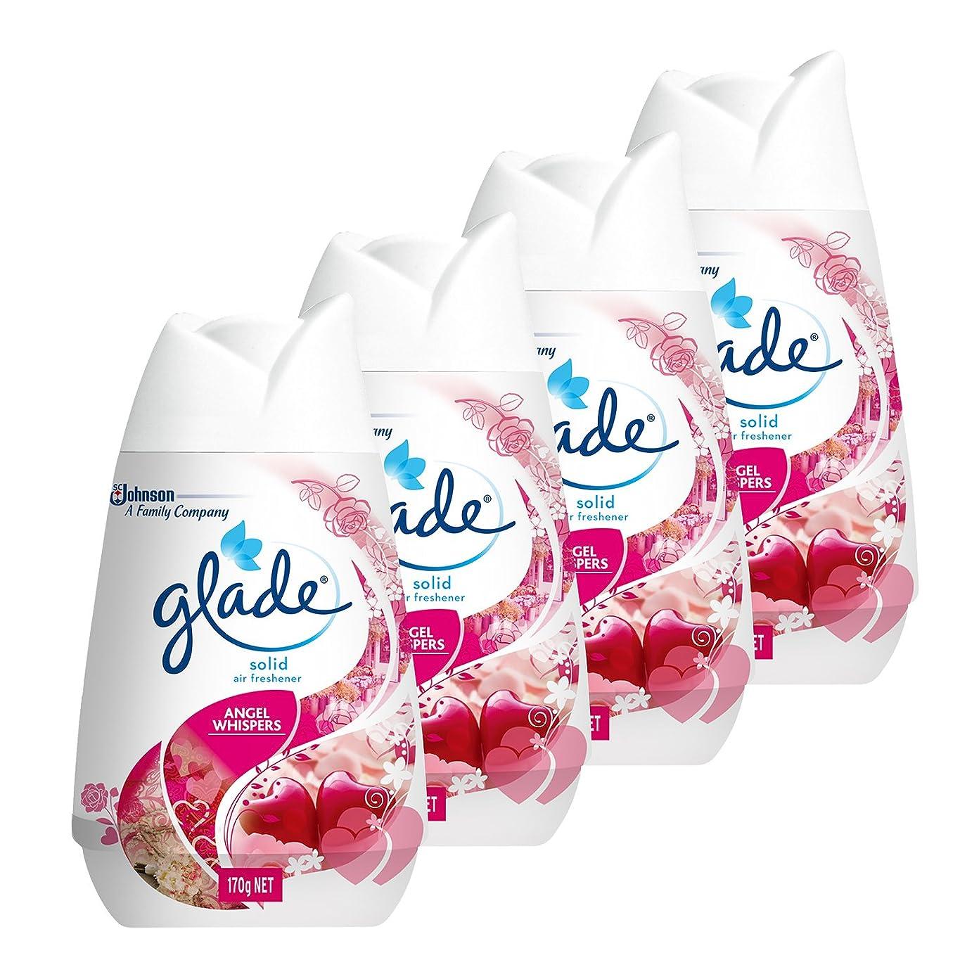 永久にポーズ秀でる【まとめ買い】 グレード 芳香剤 置き型 お部屋?トイレ用 ソリッドエアフレッシュナー エンジェルウィスパーの香り 4個セット 170g×4個