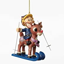 Enesco Traditions by Jim Shore Skiing Rudolph and Hermey ORN Ho 5 in Hanging Ornament
