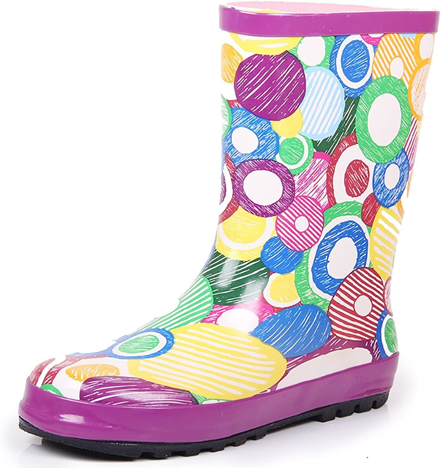 Women's Rain Boots, Women's Flat Boots Rain Boots, Anti-Slip Boots, Cartoon Fashion Water shoes