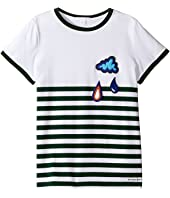 Burberry Kids - Stripe Cloud Tee (Little Kids/Big Kids)