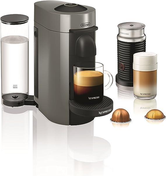 Nespresso by De'Longhi ENV150GYAE VertuoPlus Coffee and Espresso Machine Bundle with Aeroccino Milk Frother by De'Longhi