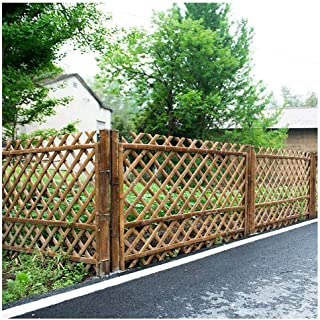 ZHANWEI Garden Fence Picket Fencing Outdoor patio gardening bamboo Pastoral country style Protective Guard Edging Decor, 2...