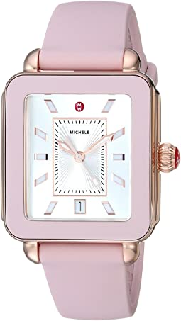 Michele Deco Sport Blush Silicone Watch