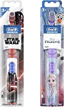 Oral-B Kids Battery Powered Electric Toothbrush Featuring Disney Star Wars & Frozen with Extra Soft Bristles, for Children...