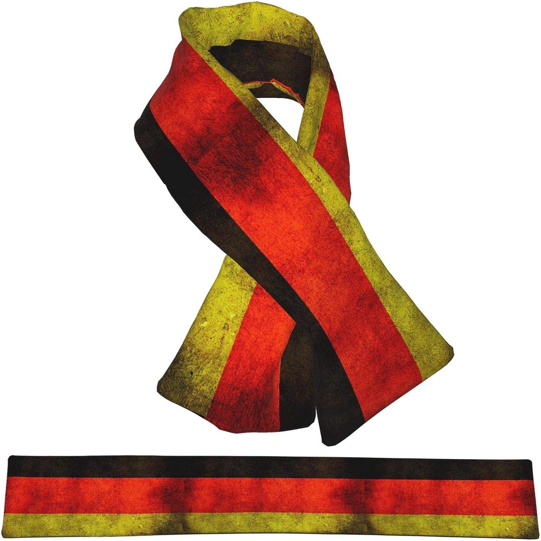 Winter Scarfs Vintage Germany Flag Scarves Wraps Neck Warmer Flannel Winter Cross Tie Scarves
