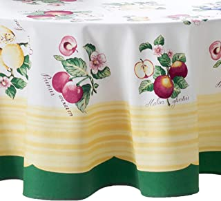 """Villeroy and Boch French Garden Round Tablecloth, 70"""", Multi"""