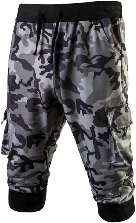 15756f6ec0 BCDHION Mens Casual Bermuda Bermuda Bermuda Camouflage Lace Compression  Summer Linen Shorts d5ce97