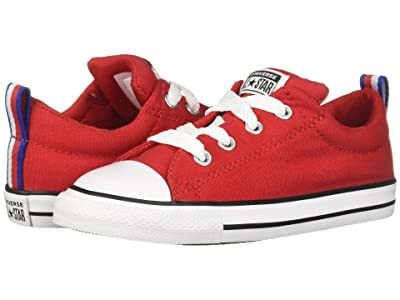 Converse Kids Chuck Taylor All Star Street Sport Webbing Slip (Infant/Toddler) (Enamel Red/Black/White) Boys Shoes