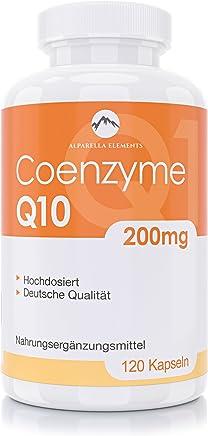 Capsule di Coenzima Q10 Alparella Elements - 120 Capsule - 200 mg altamente dosate - Made in Germany