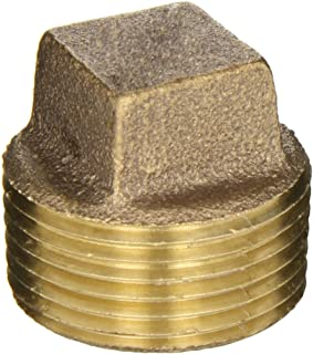 Anderson Metals 38109 Red Brass Pipe Fitting, Cored Plug, 1