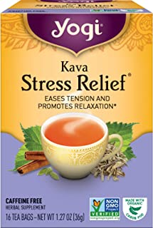 Yogi Tea - Kava Stress Relief (4 Pack) - Eases Tension and Promotes Relaxation - 64 Tea Bags