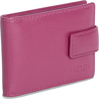 SADDLER Womens Luxurious Real Leather Bifold Credit Card Holder with Tab | Minimalist- Perfect for ID Pass Debit Travel Ca...