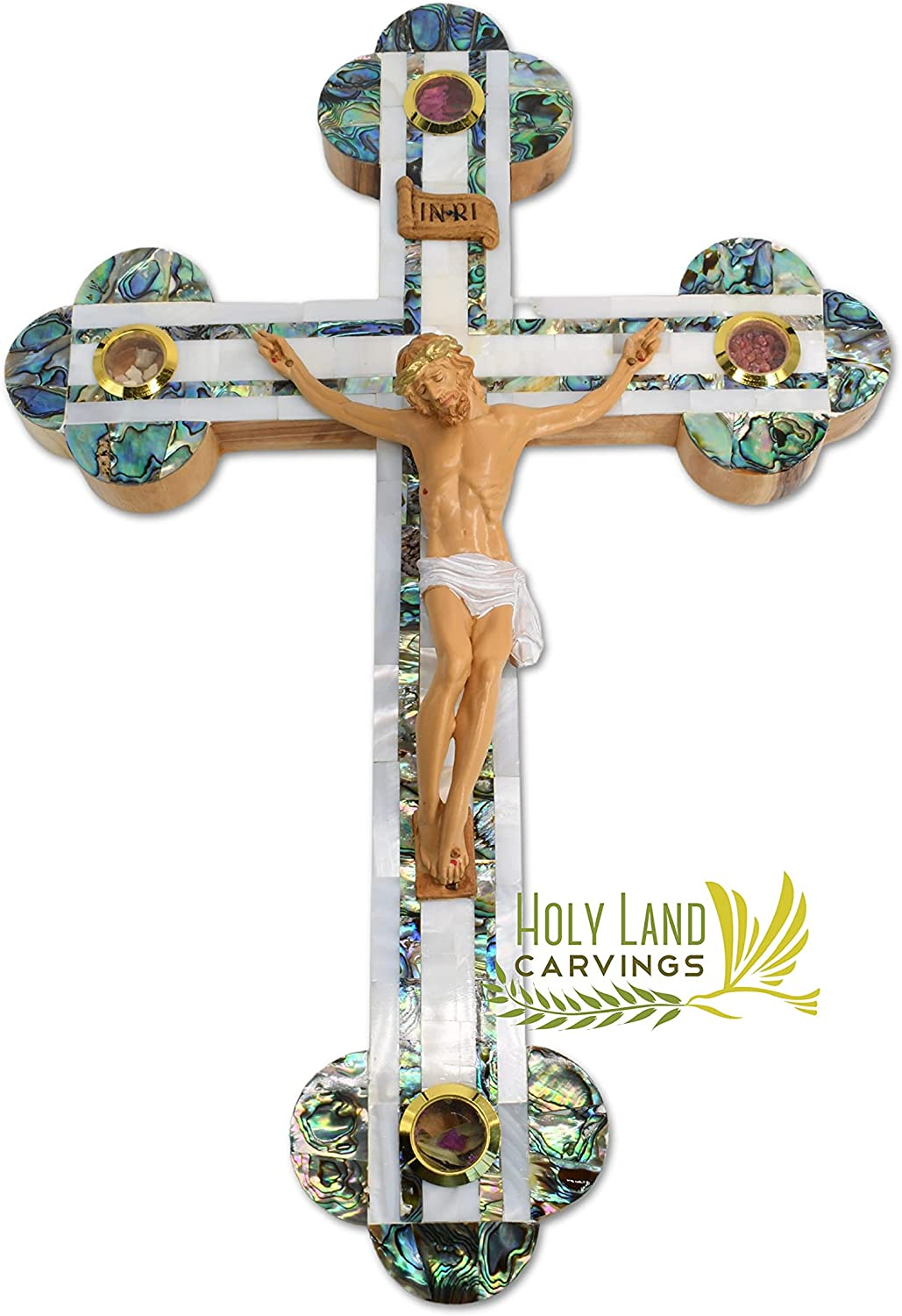15 Inch Large Limited time sale Wall Crucifix Catholic 2021 spring and summer new Olive Wo Home Décor for