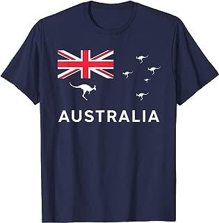 Australian Flag With Kangaroos Souvenir Gift T-Shirt