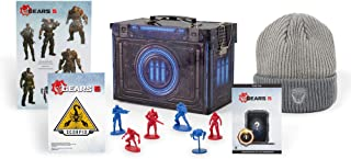 Toynk Gears of War 5 Video Game Collectors Bundle with Exclusive Ammo Tin Including Grey Beanie Action Figures DLC Content and More