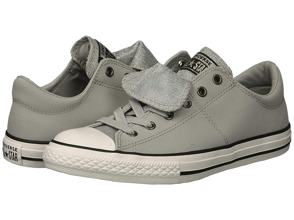 Converse Kids Chuck Taylor(r) All Star(r) Maddie Ox (Little Kid/Big Kid) (Wolf Grey/Black/White) Girl